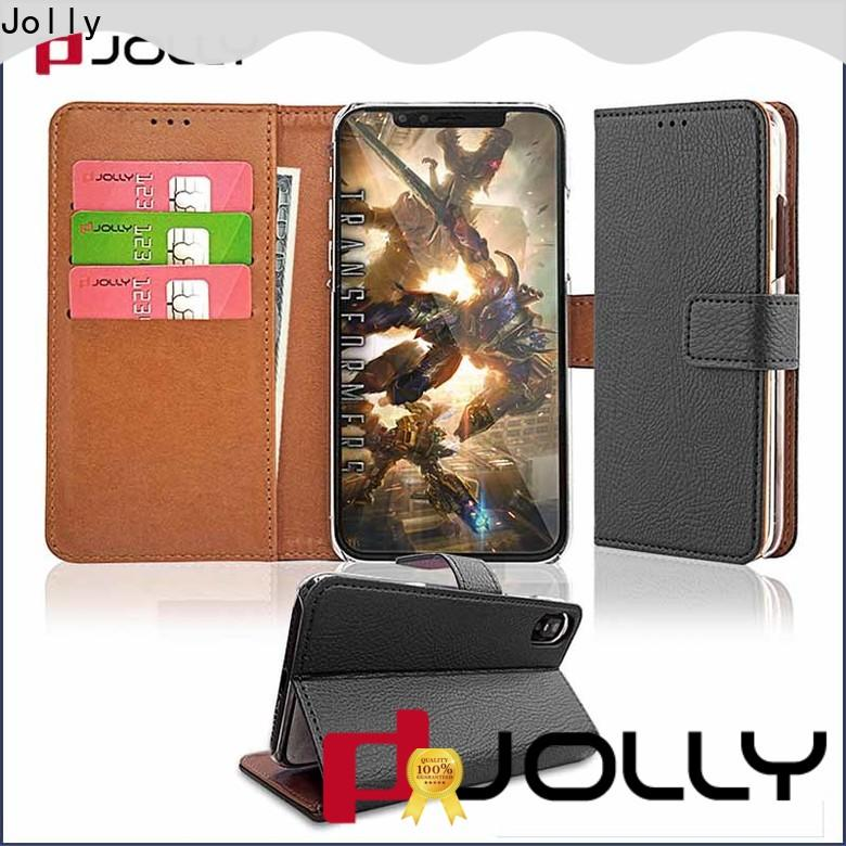 Jolly high quality leather wallet phone case supplier for mobile phone