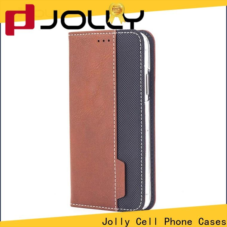Jolly designer cell phone cases with strong magnetic closure for mobile phone