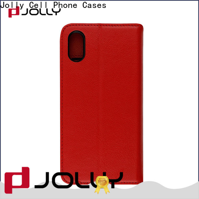 Jolly wholesale essential phone case with slot kickstand for iphone x