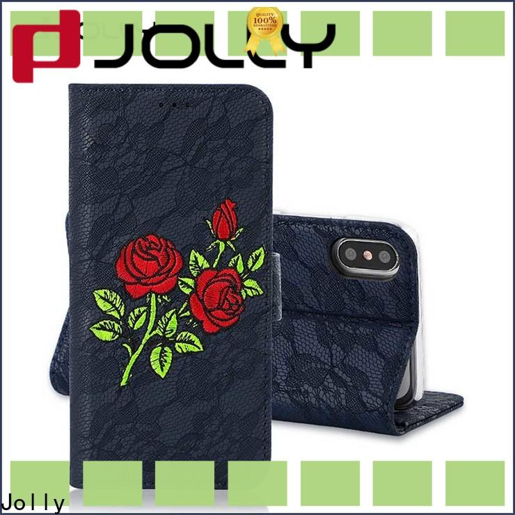Jolly imitation leather wallet phone case factory for iphone xs
