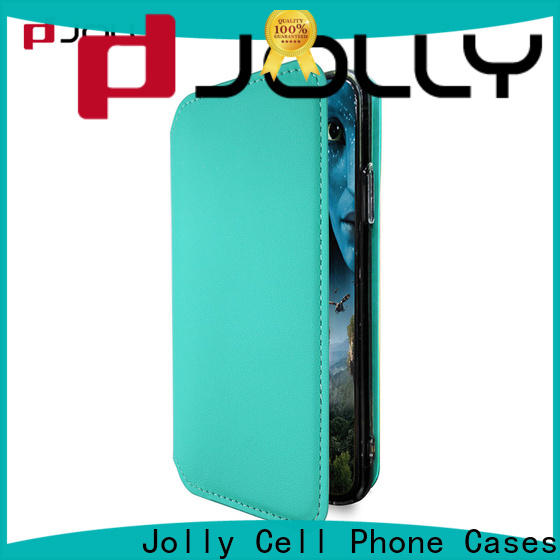 Jolly slim leather flip cell phone case factory for iphone xs