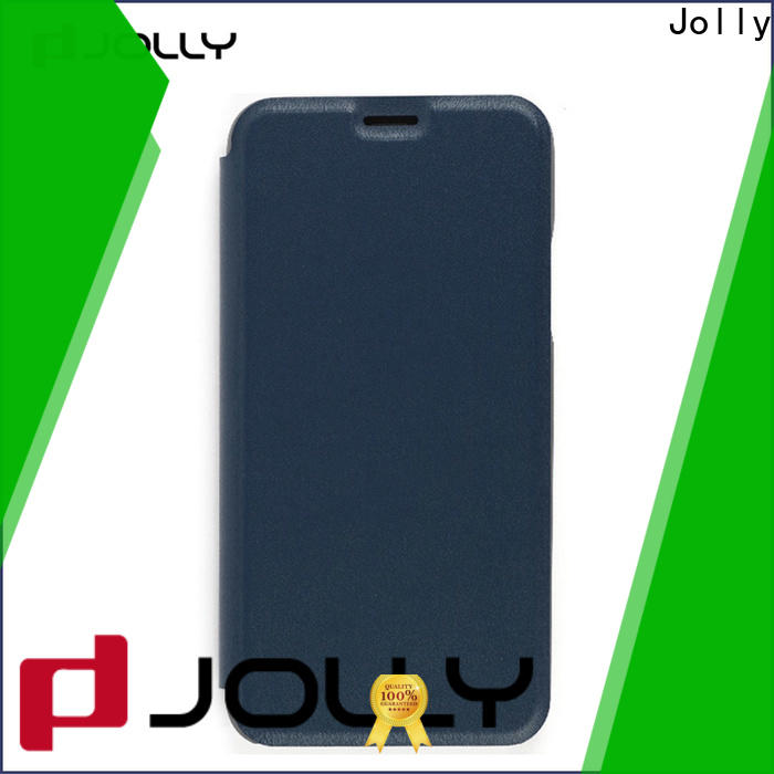 Jolly leather flip phone case company for mobile phone