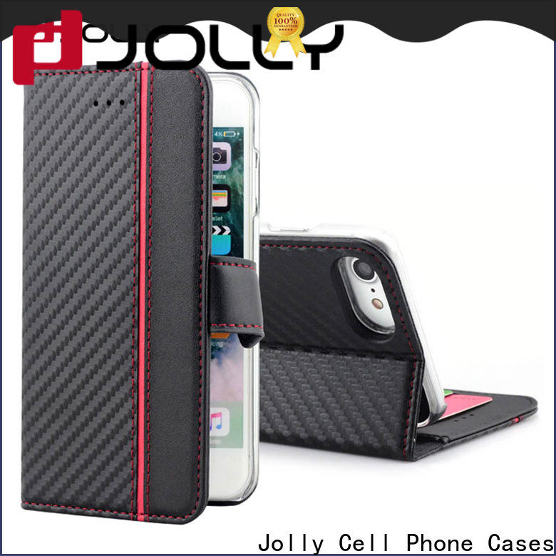 Jolly magnetic protective phone cases with slot kickstand for sale