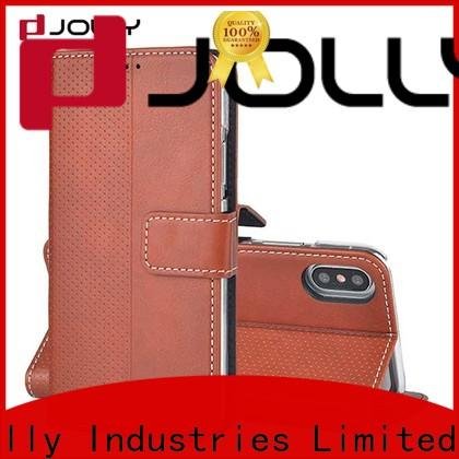 Jolly top leather cell phone wallet case company for mobile phone