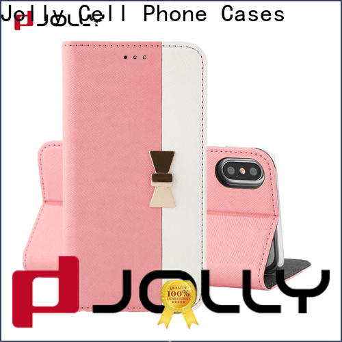 Jolly initial initial phone case with slot kickstand for mobile phone