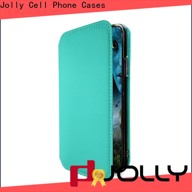 Jolly slim leather flip phone case manufacturer for mobile phone