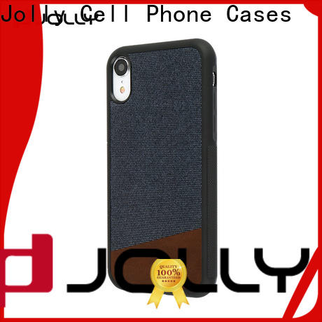 Jolly slim spliced two leather mobile case supplier for sale