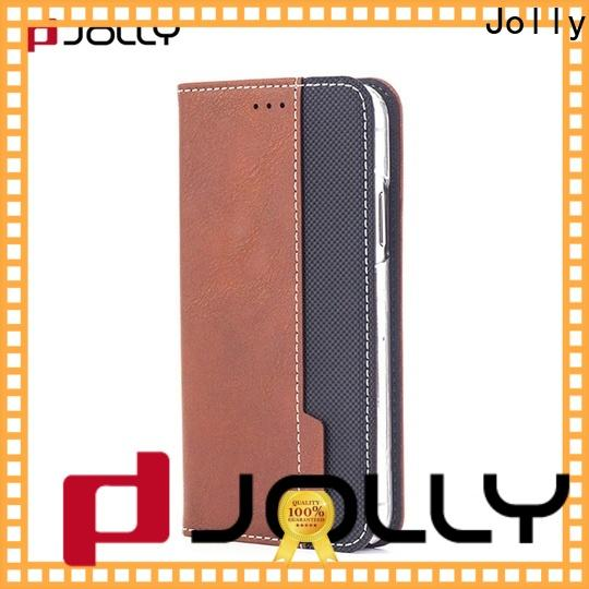 Jolly initial flip phone case with strong magnetic closure for iphone xs