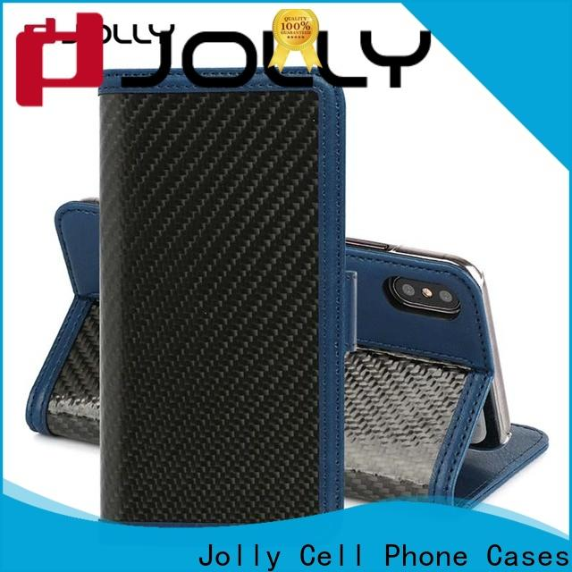Jolly new magnetic wallet phone case with cash compartment for sale