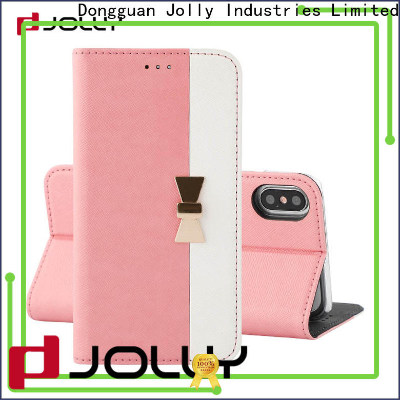slim leather leather flip phone case with id and credit pockets for sale