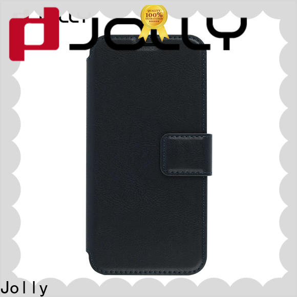Jolly slim leather cheap cell phone cases with strong magnetic closure for sale