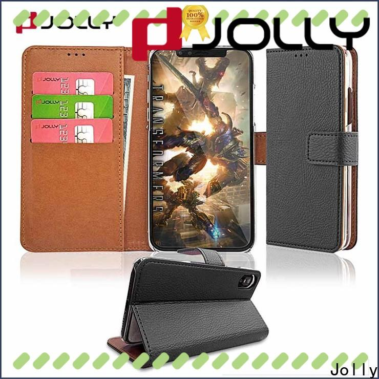 Jolly high quality wallet case with slot for iphone xs
