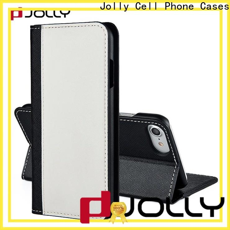 leather card holder organizer phone case and wallet supplier for apple