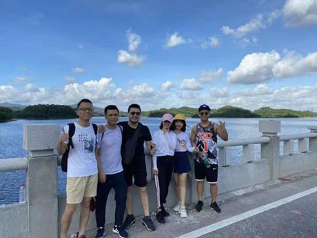 Jolly Oversea Business Dept Hiking Activity Held in Tongsha Ecopark