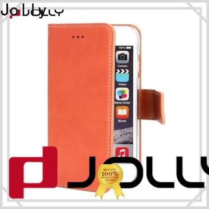 Jolly latest wallet style phone case with printed pattern cover for apple
