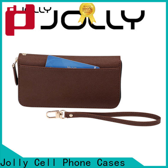 Jolly wallet purse phone case with cash compartment for mobile phone