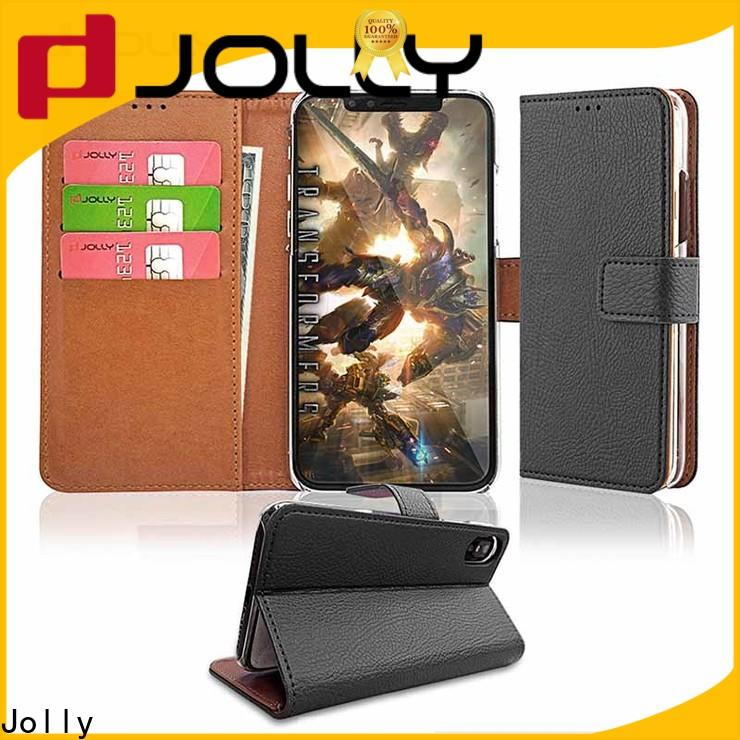 Jolly artificial designer wallet phone case with printed pattern cover for iphone xs