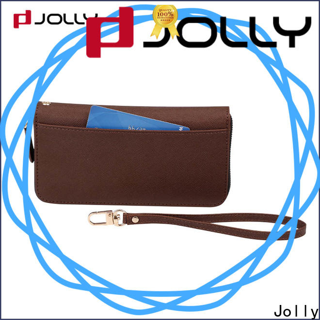Jolly women mens cell phone wallet with rfid blocking features for iphone xs