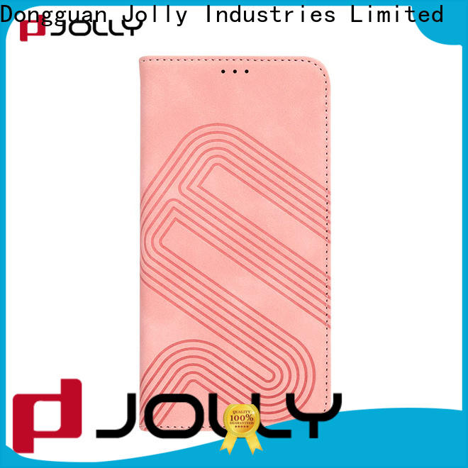 Jolly leather flip phone case for busniess for mobile phone