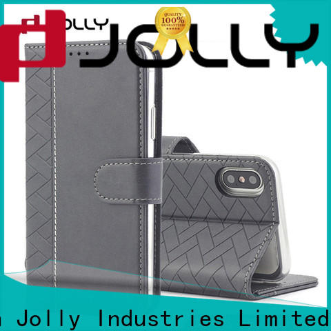 real carbon fiber leather cell phone wallet case with cash compartment for mobile phone