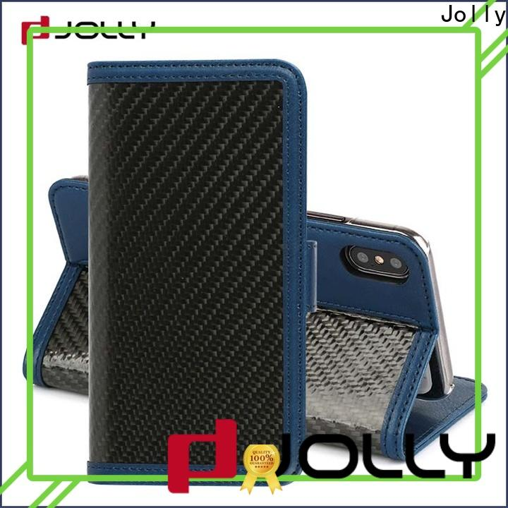 Jolly book leather cell phone wallet case factory for sale