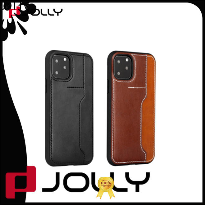 slim spliced two leather cell phone covers online for iphone xs