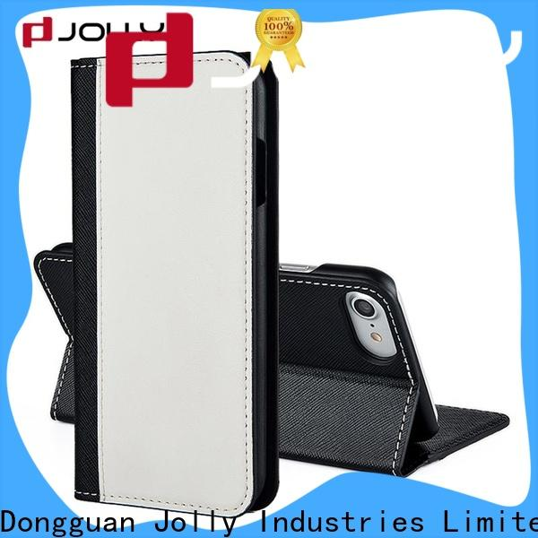 Jolly leather cell phone wallet case with credit card holder for iphone xs