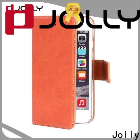 Jolly women wallet style phone case with rfid blocking features for iphone xs