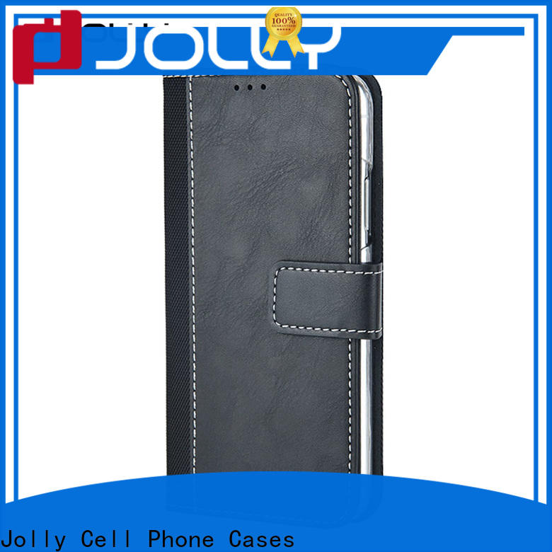 real carbon fiber wallet style phone case for busniess for apple