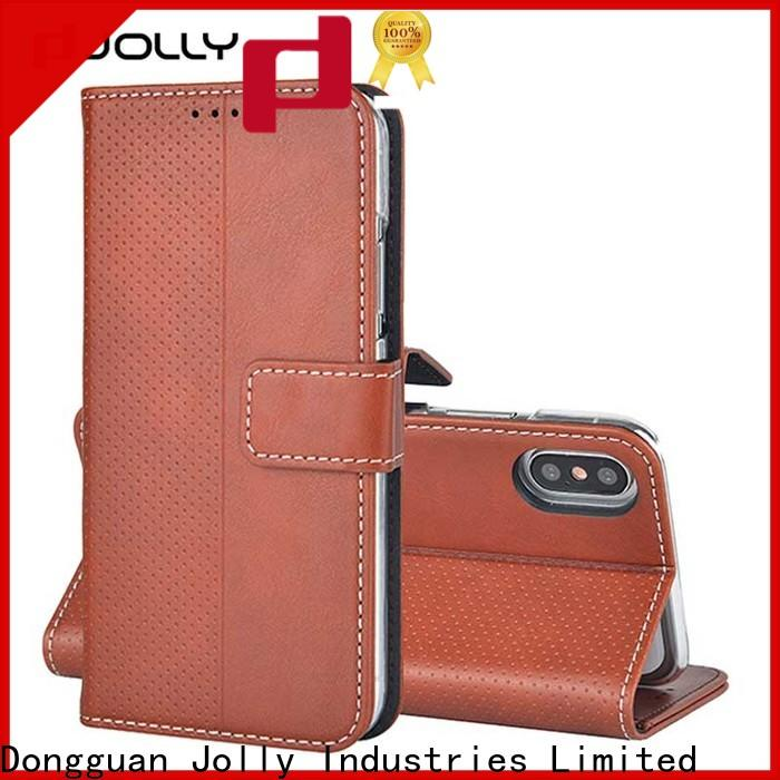 Jolly high quality designer wallet phone case with credit card holder for apple