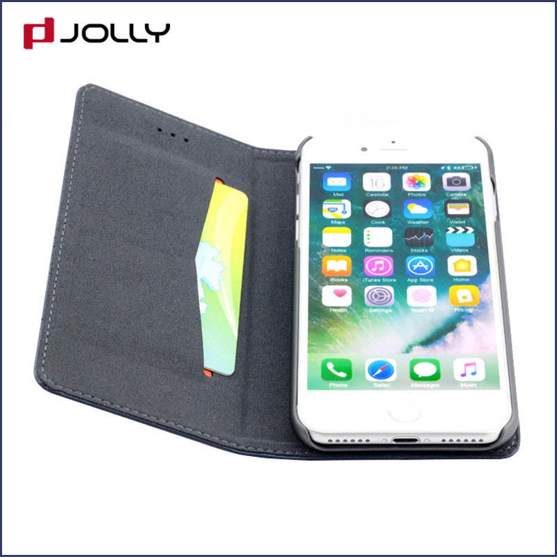 iPhone 8 7 Magnetic Phone Case, Leather 2 In 1 Detachable Phone Case Slot Kickstand DJS0463
