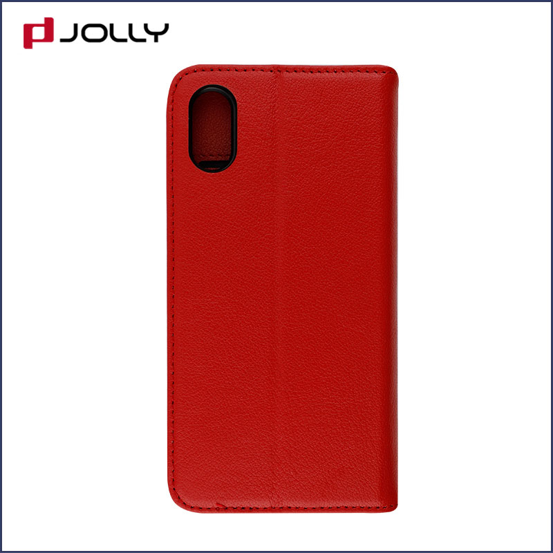 slim leather magnetic detachable phone case with slot kickstand for mobile phone-6