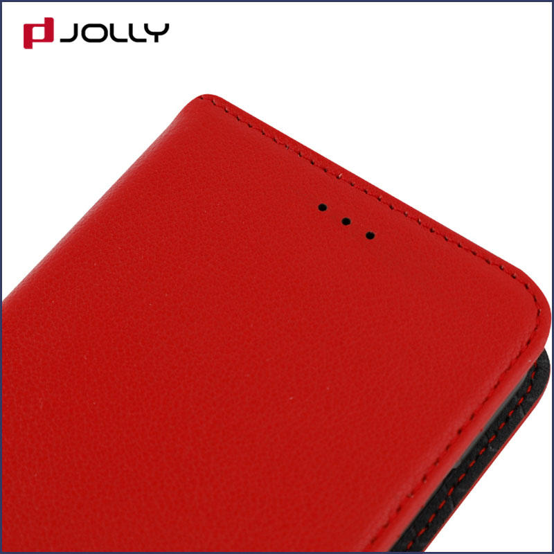 slim leather magnetic detachable phone case with slot kickstand for mobile phone