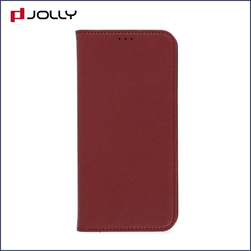 iPhone Xr Case, Slim Leather Detachable Phone Case With Slot Kickstand DJS0981