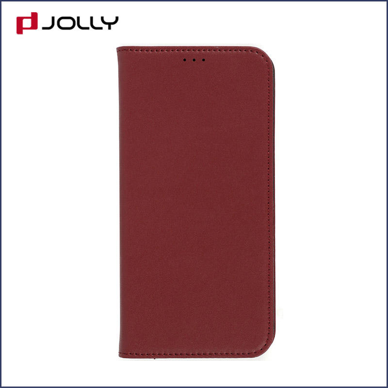 slim leather magnetic phone case with slot kickstand for iphone x