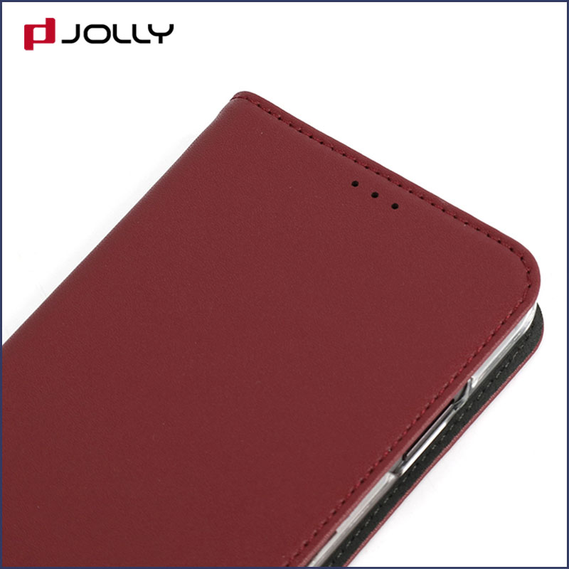 slim leather magnetic phone case with slot kickstand for iphone x-4