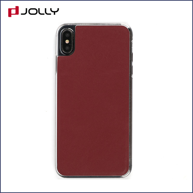 slim leather magnetic phone case with slot kickstand for iphone x-7