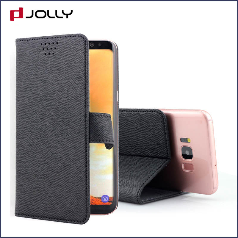 Phone Accessories For Cell Phone, eco friendly Leather Flip Universal Phone Case With Slot