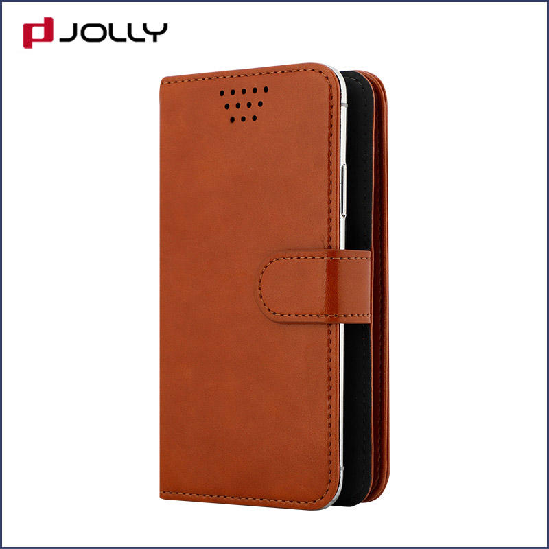 Mobile Phone Accessories Pu Leather Universal Phone Case With 3M Adhesive, Credit Card Slots, Cash Slot DJS0735