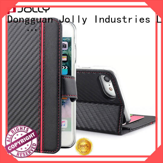 Jolly slim leather essential phone case with credit card holder for iphone x