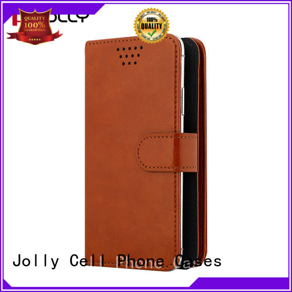Jolly pu leather case universal with card slot for mobile phone