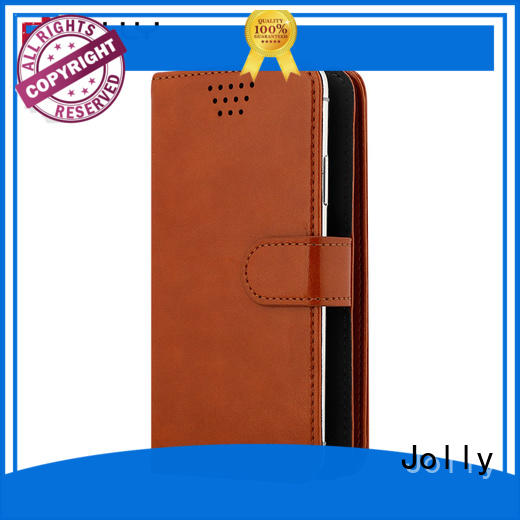 Jolly mobile phone accessories cell phone case universal with credit card slot for sale
