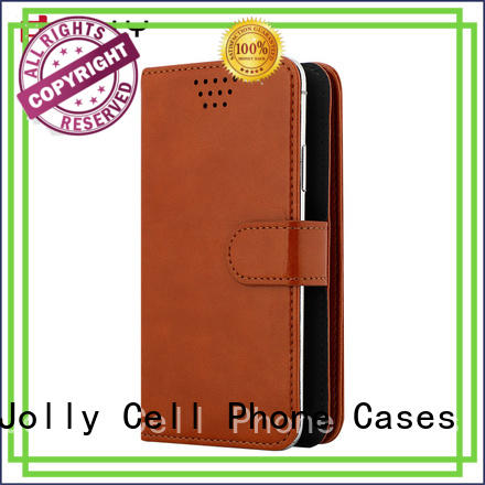 Jolly top wholesale phone cases with card slot for cell phone