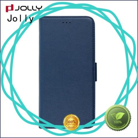 pu leather magnetic detachable phone case with credit card holder for sale