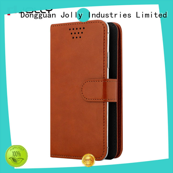pu leather universal mobile phone cases with adhesive for sale Jolly