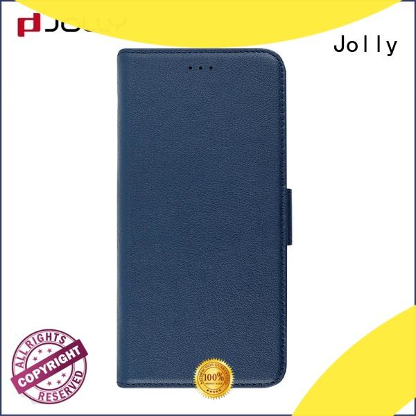 Jolly slim leather custom cell phone case maker manufacturer for iphone xr