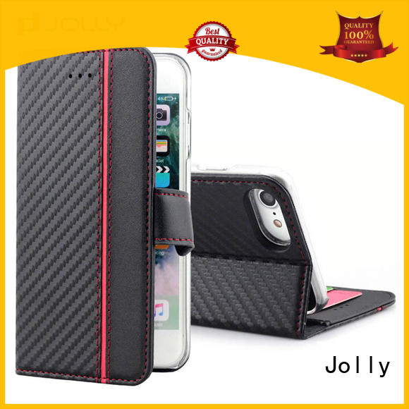 pu leather mobile phone case with credit card holder for iphone x