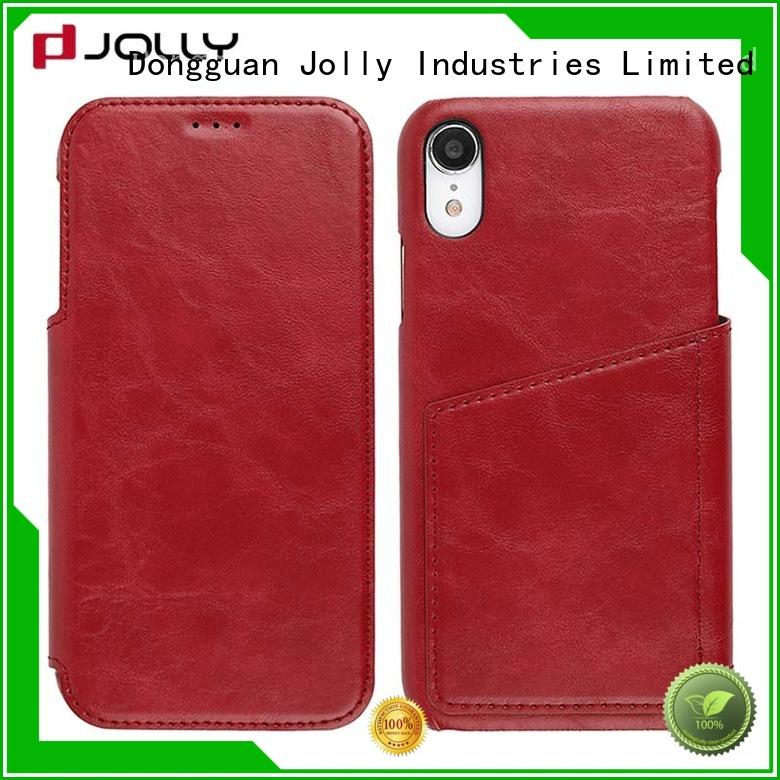 folio magnetic flip case with strong magnetic closure for mobile phone