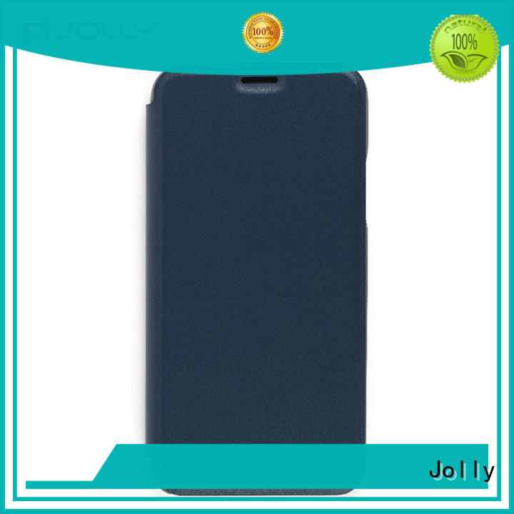 Jolly pu leather flip cover phone case with slot for sale