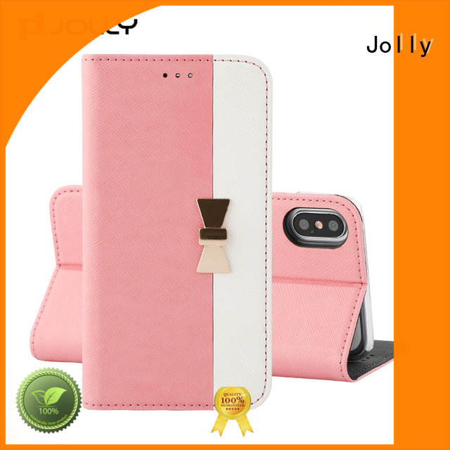 Jolly slim leather cell phone cases hot sale for sale
